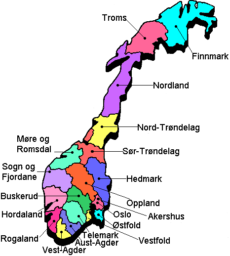 Election In Norway On Wwwgunlaugcom - Norway election map